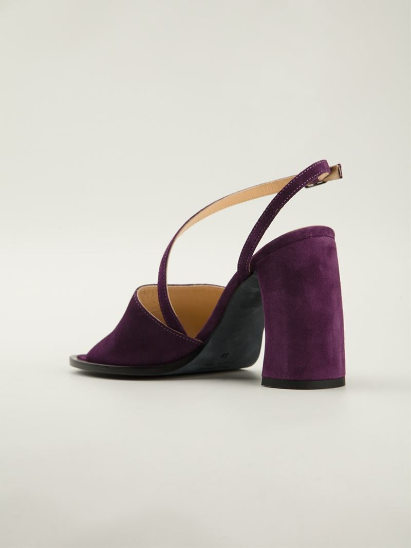 Ann demeulemeester Chunky Heel Sandals in Purple | Lyst