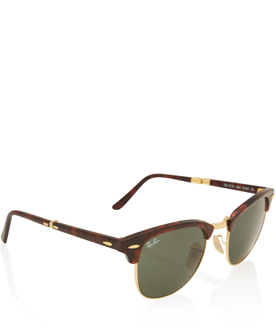 clubmaster tortoise  ray ban clubmaster tortoise folding
