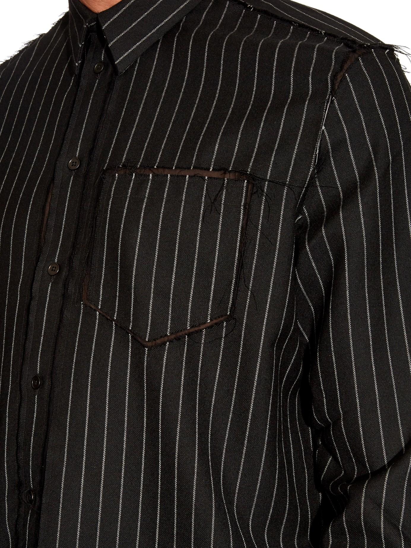 Mens black pinstripe dress shirt