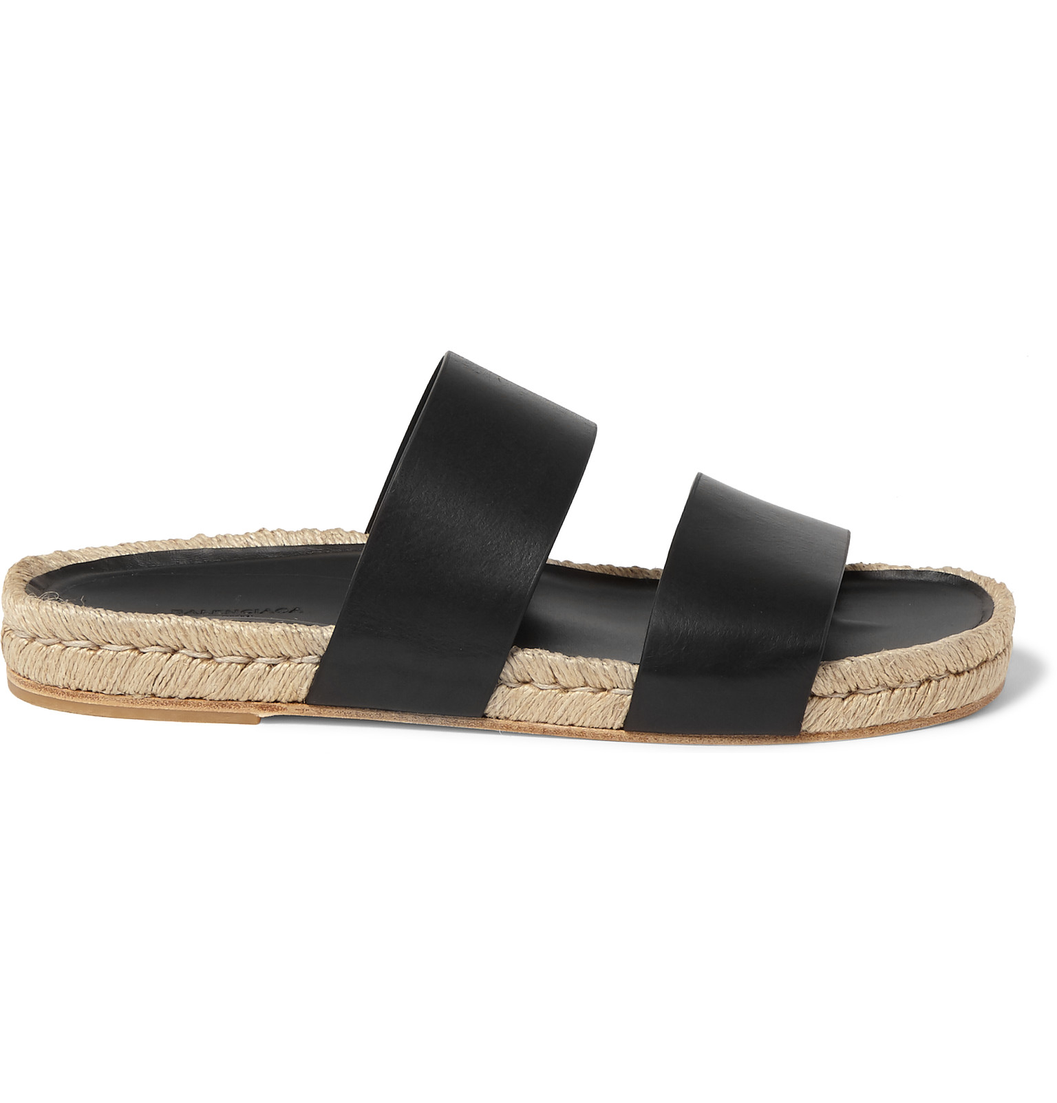 Balenciaga Leather Espadrille Sandals cheap pictures discount low cost free shipping pay with paypal 839zAx2I
