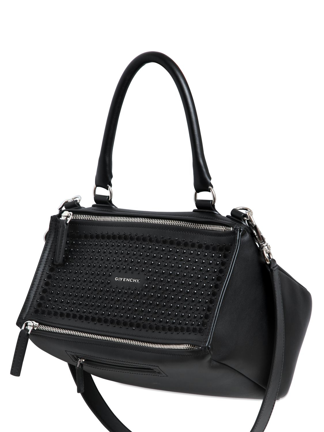 Bag At You Fashion Blog Hip E Bags White Backpack: Givenchy Medium Pandora Studded Leather Bag In Black