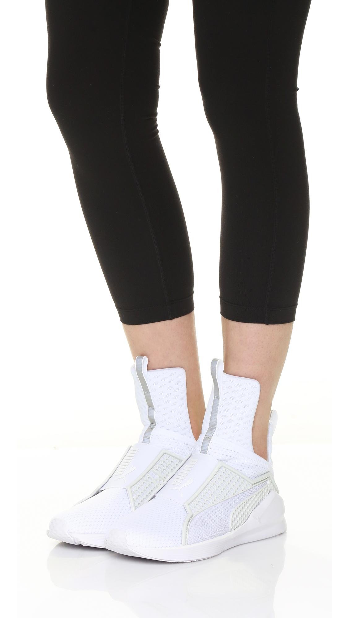 sports shoes 4034e ce710 PUMA X Rihanna Fenty Trainers in White/White (White) - Lyst