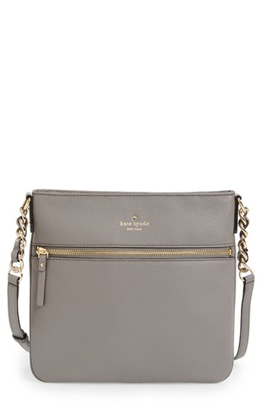 345d5ee22963 Lyst Kate Spade Cobble Hill Ellen Leather Crossbody Bag In Gray