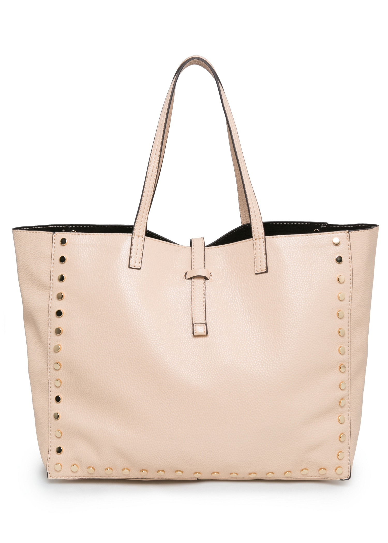 Mango Rivet Shopper Bag in Pink | Lyst