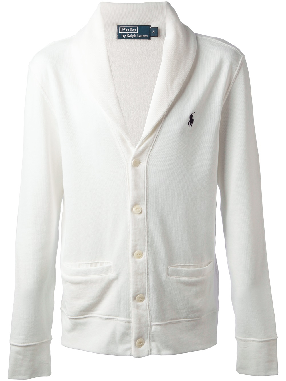 Ralph lauren purple label Shawl Collar Cardigan in White for Men ...