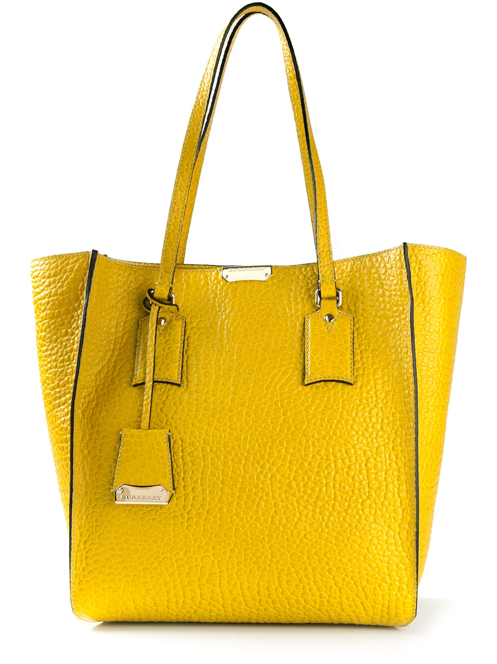 7de216952378 Lyst - Burberry Medium Signature Tote Bag in Yellow