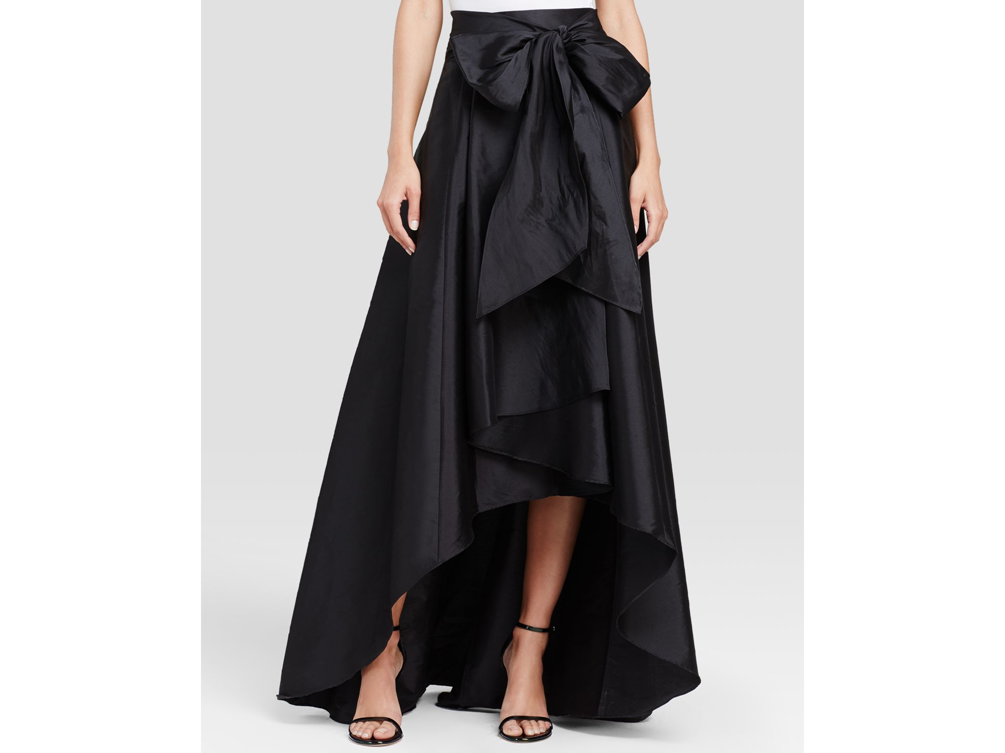 Adrianna Papell High Low Ball Skirt In Black Lyst