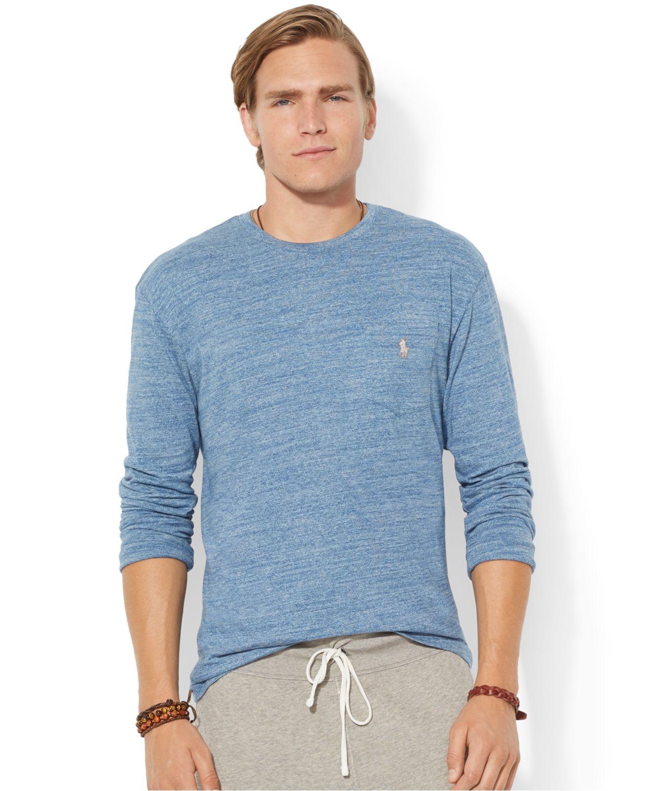 Polo ralph lauren classic fit long sleeved jersey pocket for Ralph lauren polo jersey shirt