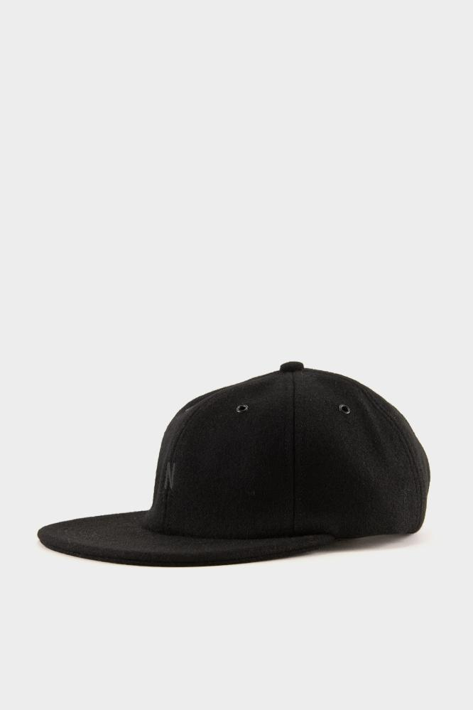 83fa3e9aa15 Norse Projects Moon Wool Flat Cap Boot Black in Black for Men - Lyst