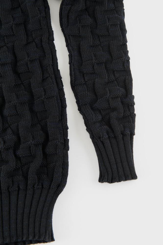 S.N.S Herning Wool Zoom Crew Sweater Black for Men