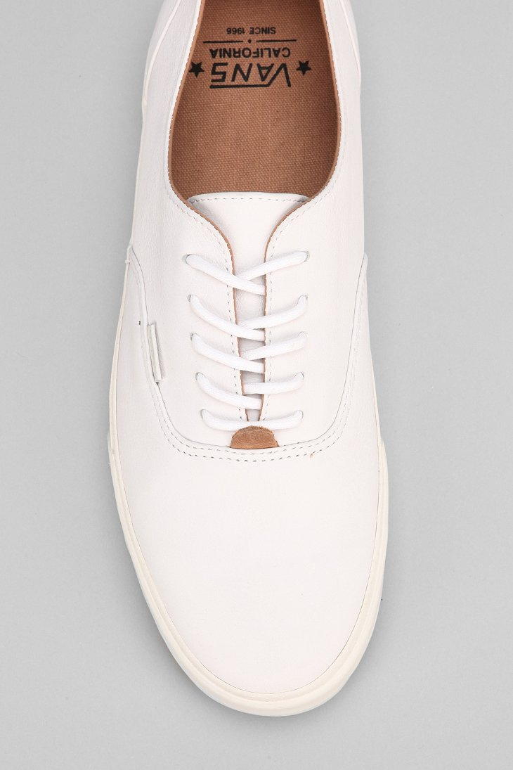 vans california premium sneakers beige leather