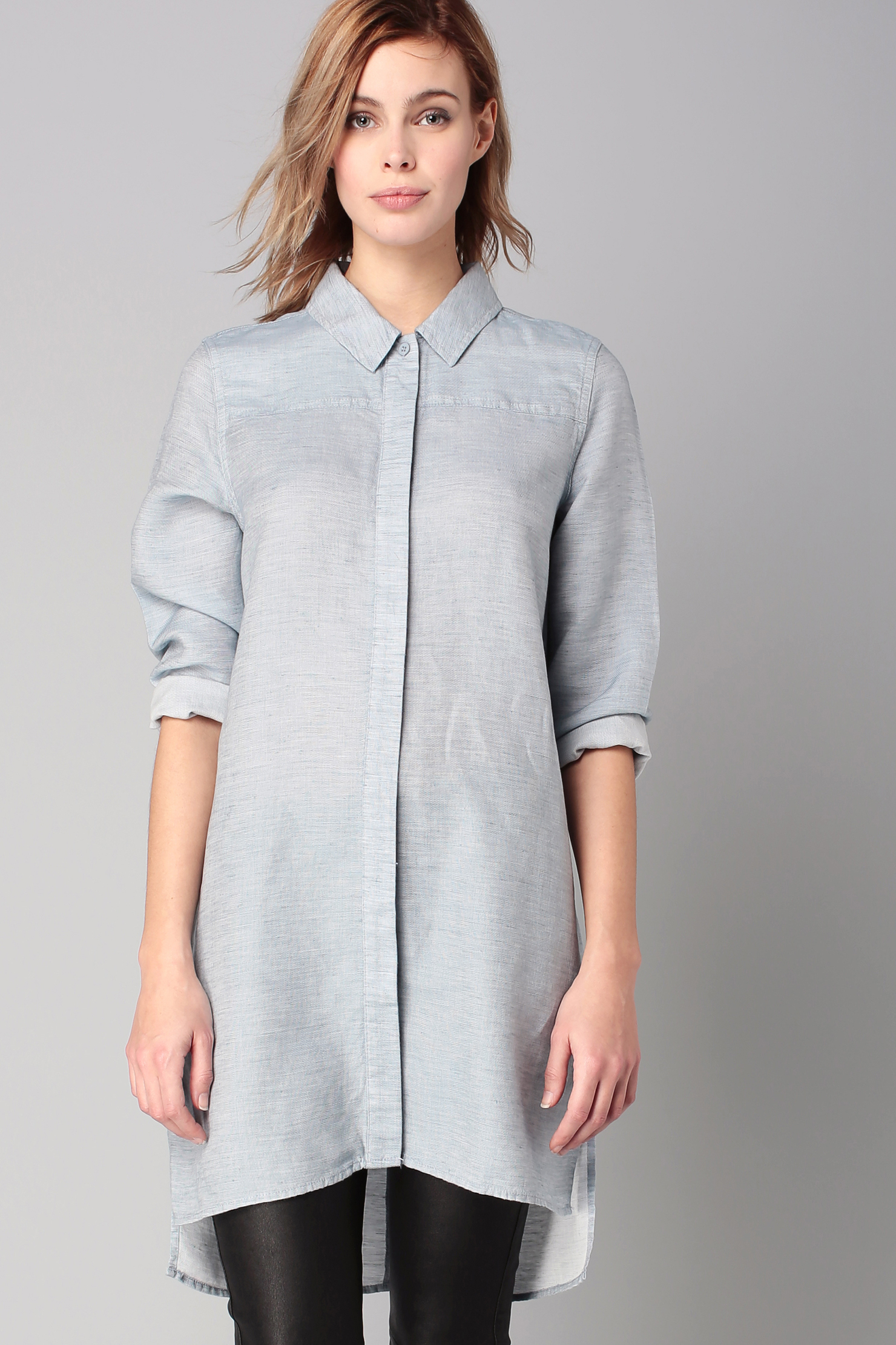 French connection shirt dress in blue lyst for French connection shirt dress