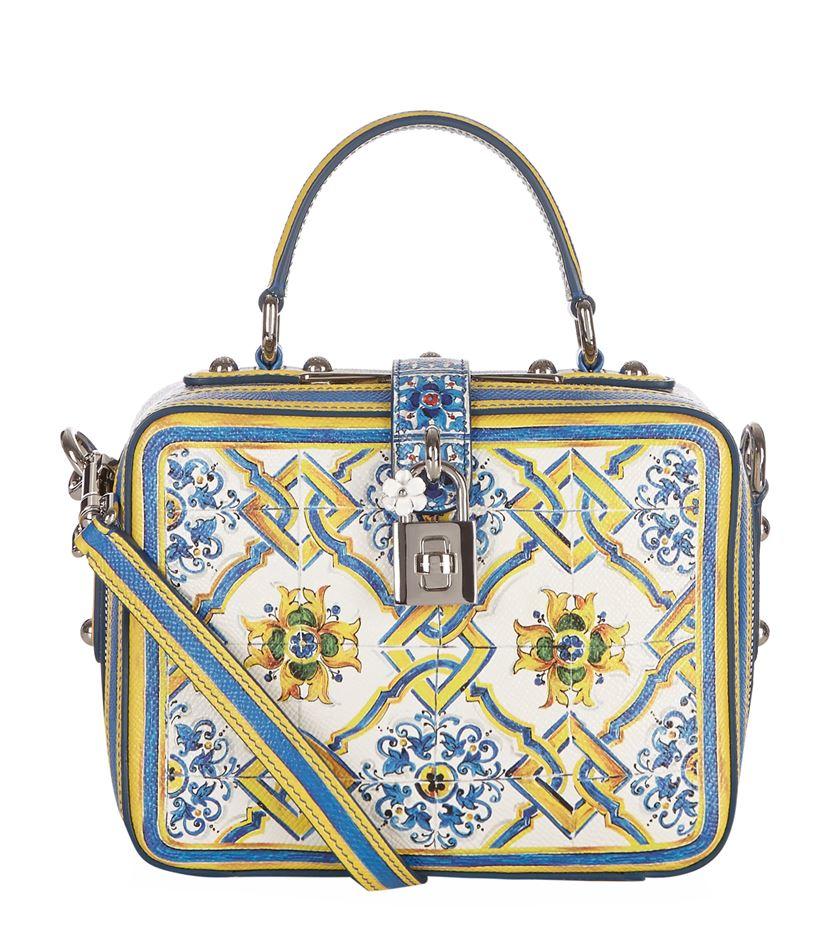 f06426e99a Dolce & Gabbana Rosaria Majolica Box Bag - Lyst