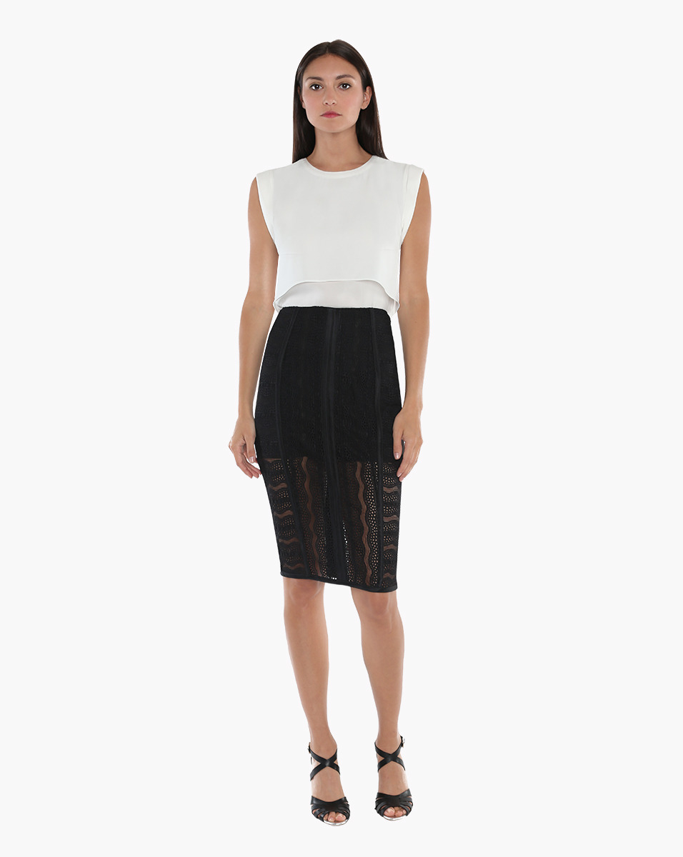 beard fitted pencil skirt in black lyst
