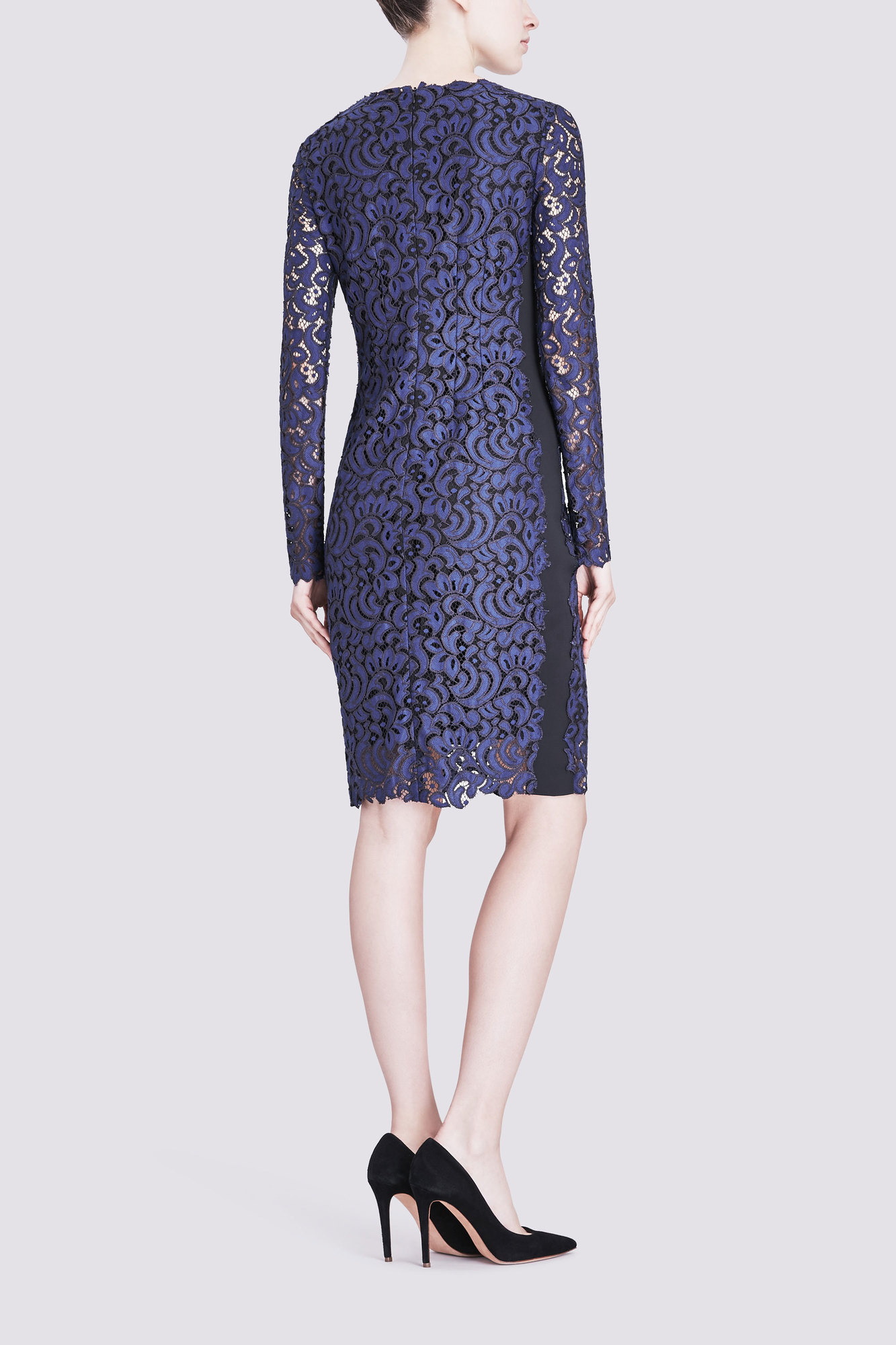 Elie Tahari Bellamy Dress In Crochet Lace In Blue Lyst