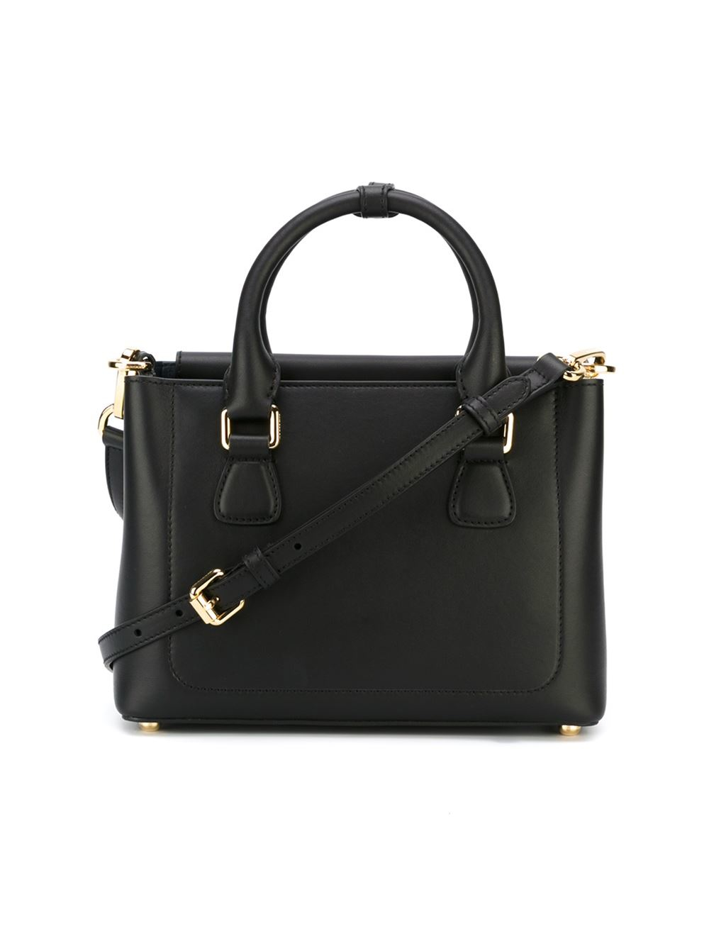 Burberry Small Saddle Tote in Black