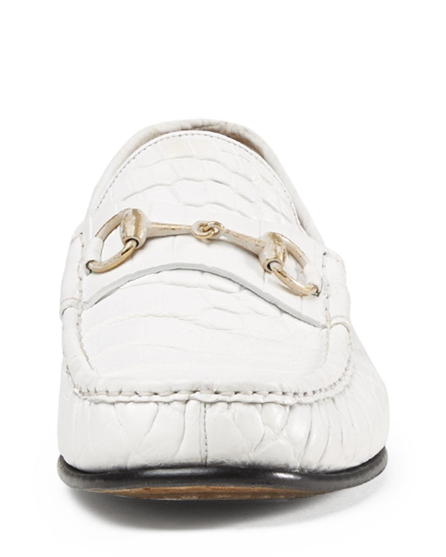 Gucci Leather Men's Crocodile Horsebit