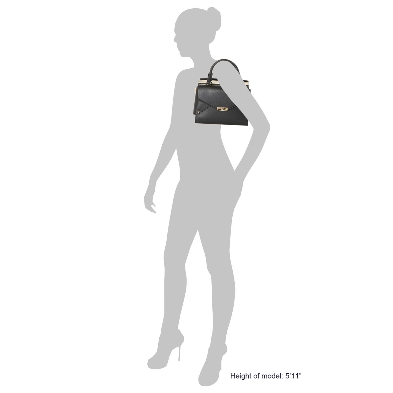 Dune Delany Folded Front Tote Bag in Black