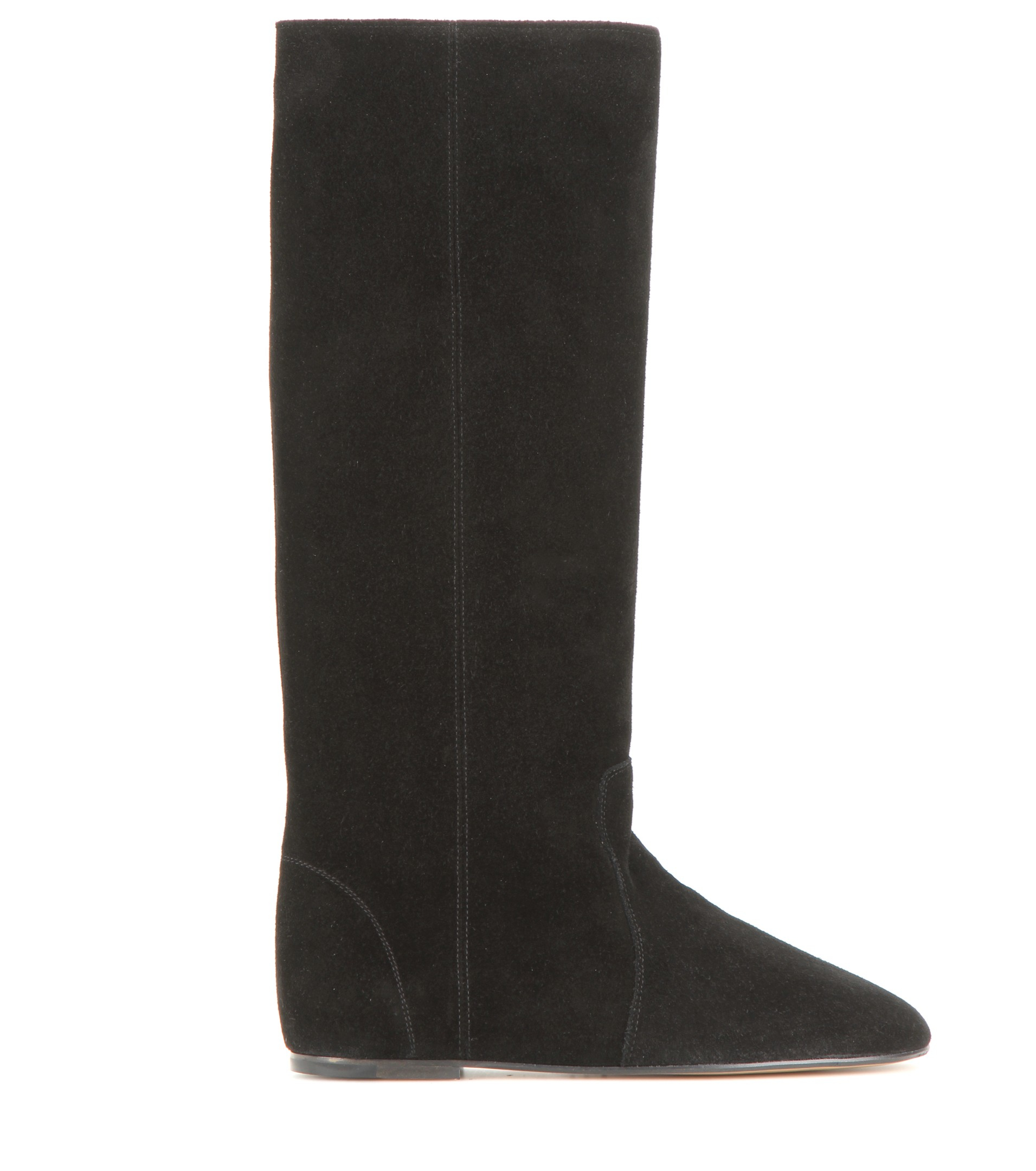 a2bd4061893 Isabel Marant Étoile Renee Suede Knee-high Boots in Black - Lyst