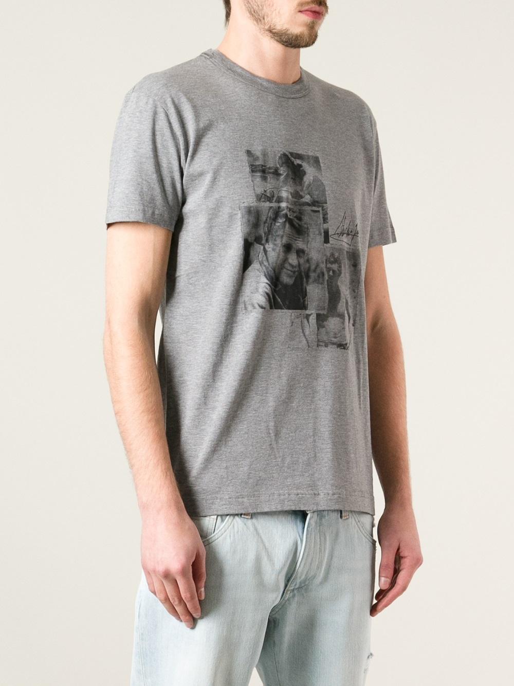 lyst dolce gabbana steve mcqueen tshirt in gray for men. Black Bedroom Furniture Sets. Home Design Ideas