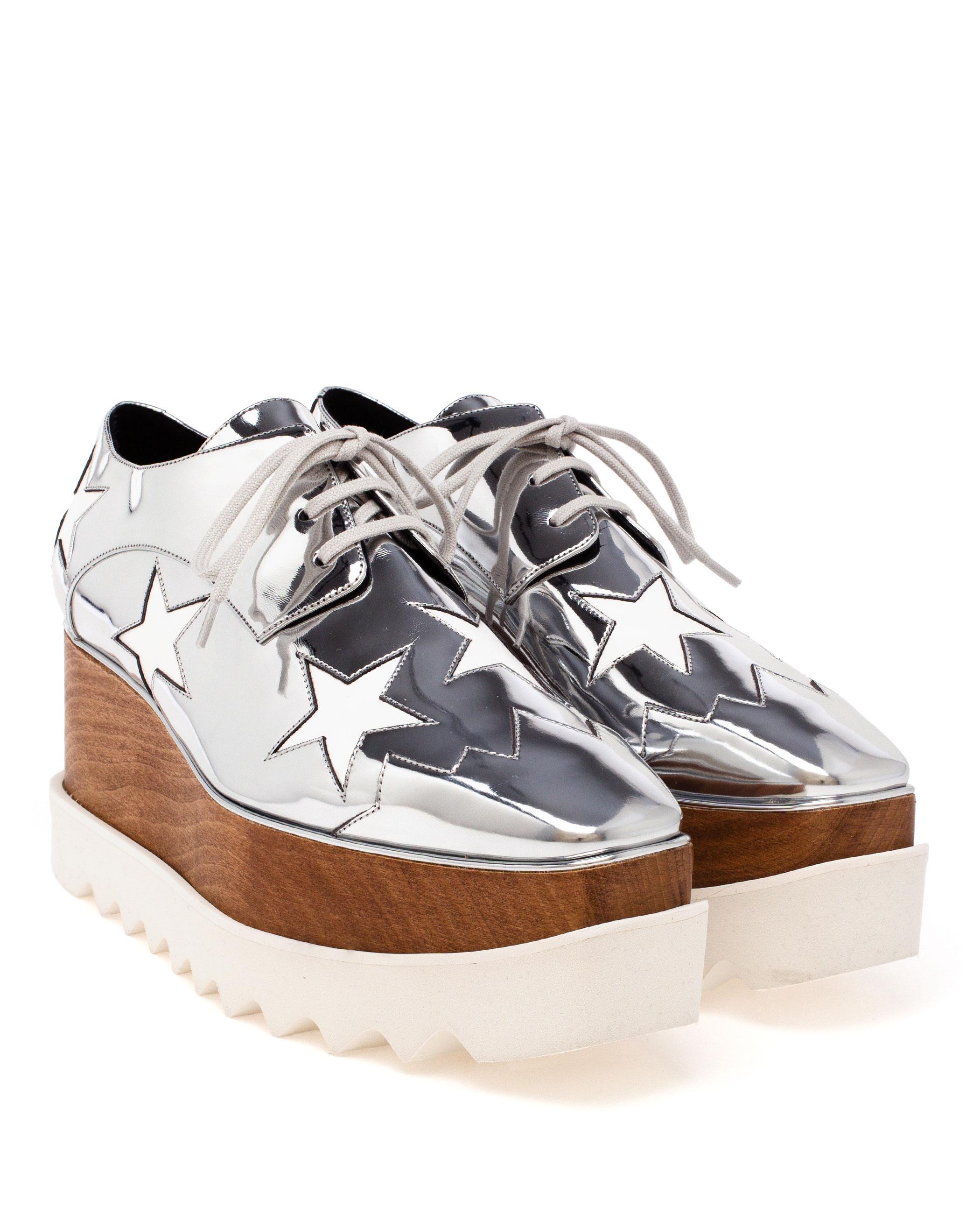 Stella Mccartney Scarpa Metallic Star Shoes In Metallic Lyst