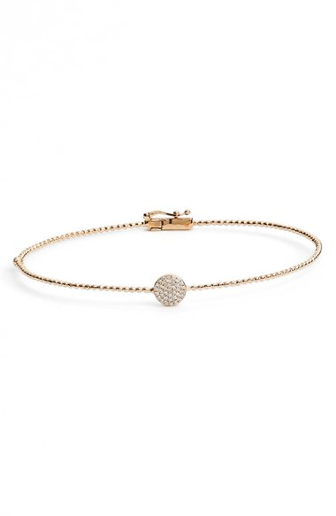 Bony Levy Aurora Diamond Pave Circle Bangle In Gold