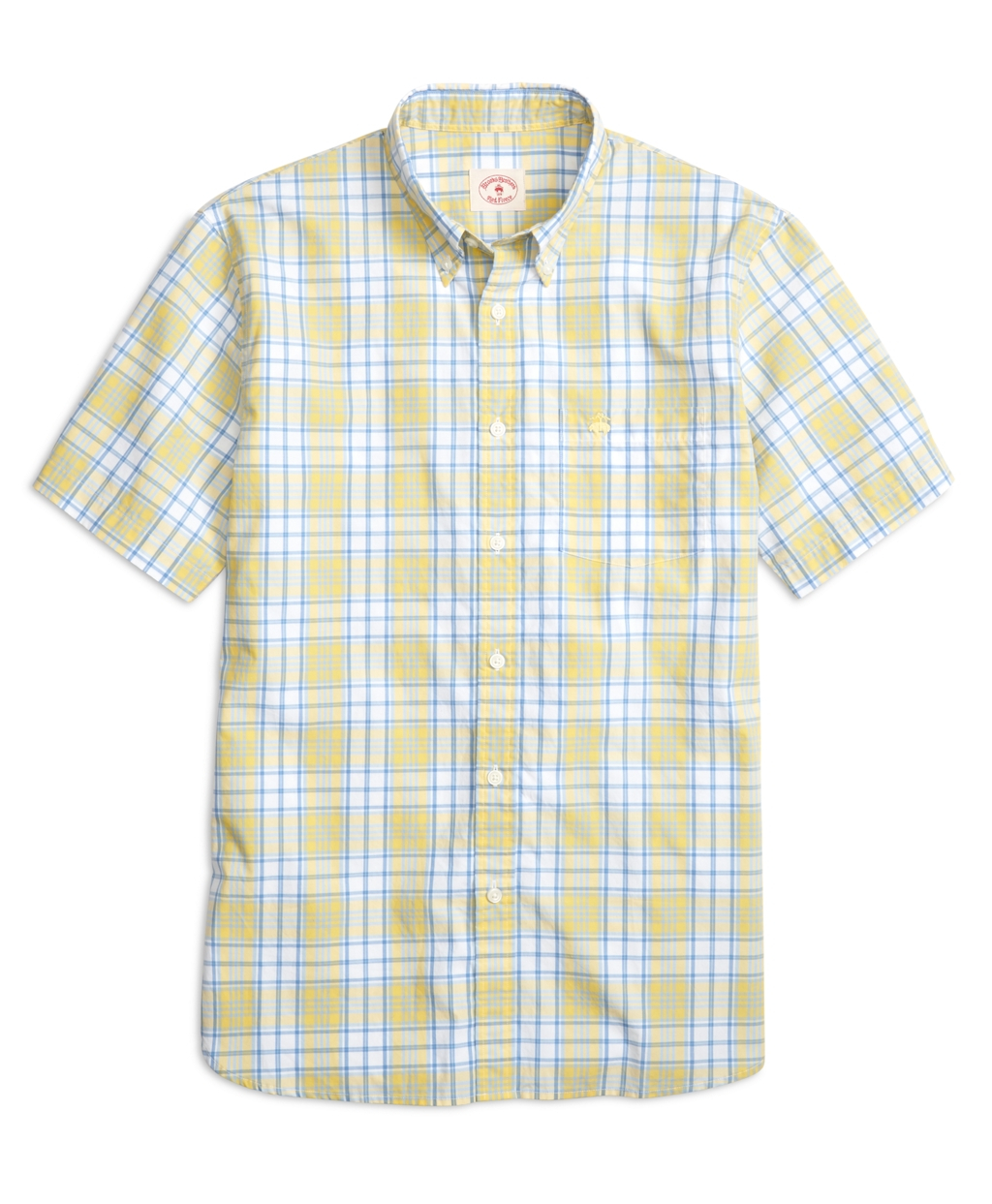 Lyst Brooks Brothers Yellow And Blue Plaid Short Sleeve