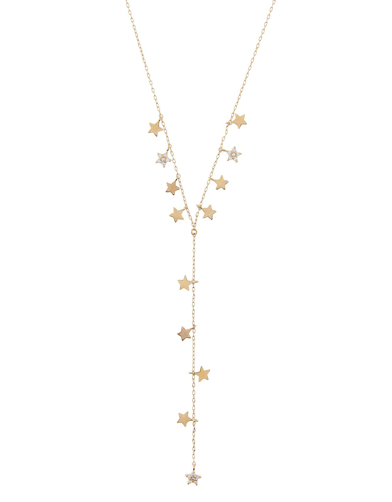 Accessorize Starry Y Necklace in Crystal (Metallic)