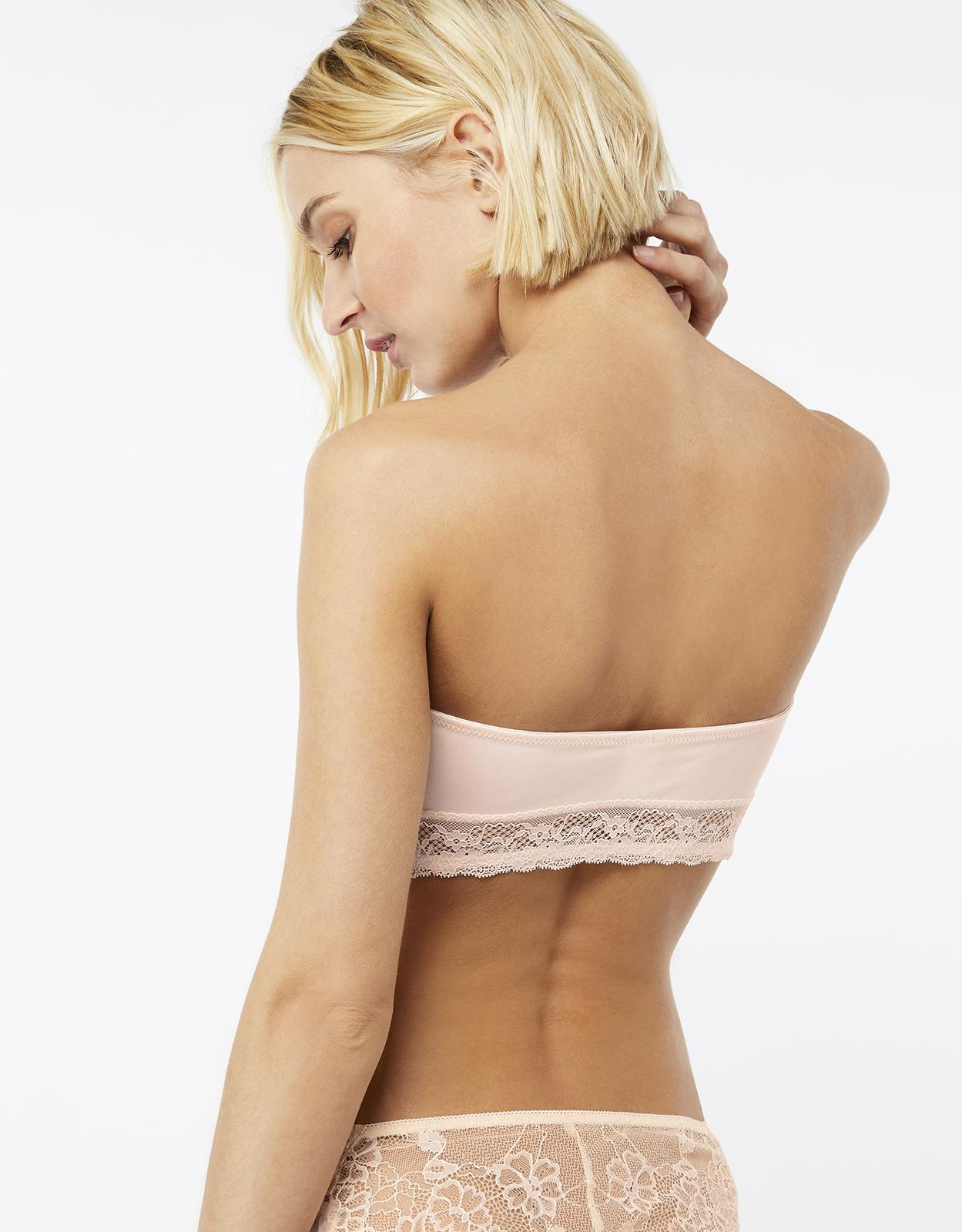 Accessorize Lace Detail Bandeau in Nude (Natural)