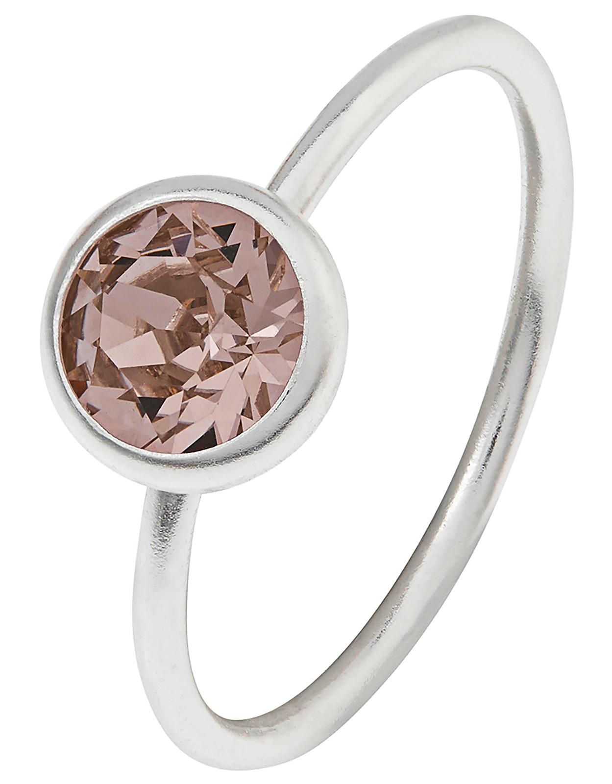 6a4cb782bd1ab Accessorize Pink Sterling Silver Solitaire Ring With Swarovski® Crystal