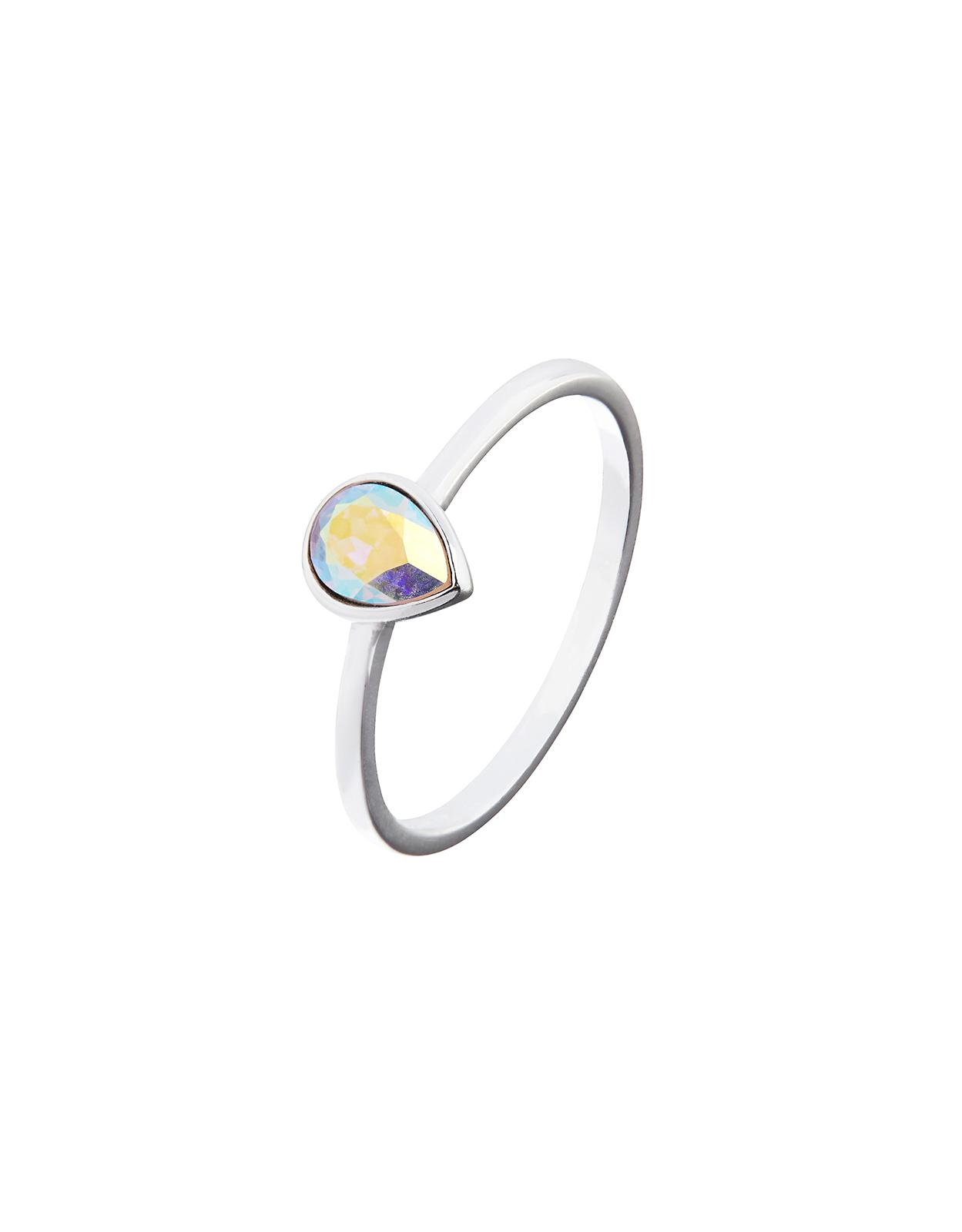 a54fe78e26788 Accessorize Metallic Sterling Silver Teardrop Ring With Swarovski® Crystal
