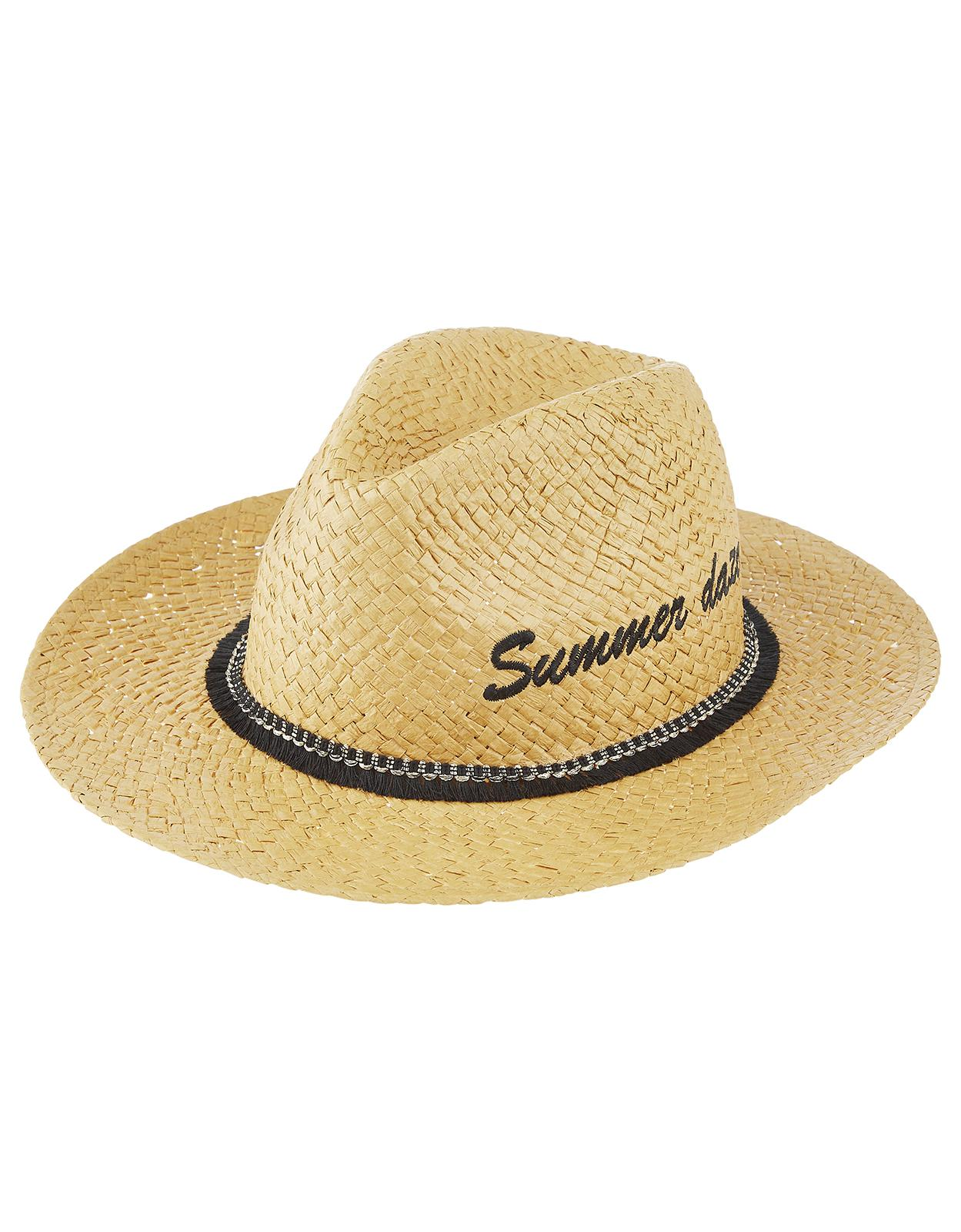 12a87326da8 Accessorize Summer Daze Fedora Hat in Natural for Men - Lyst