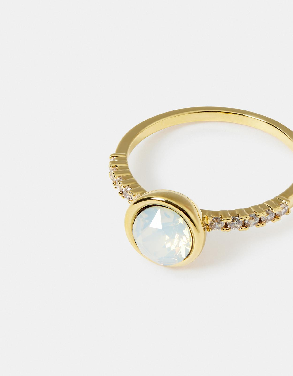 Accessorize Simple Pave Ring With Swarovski® Crystals in Blue