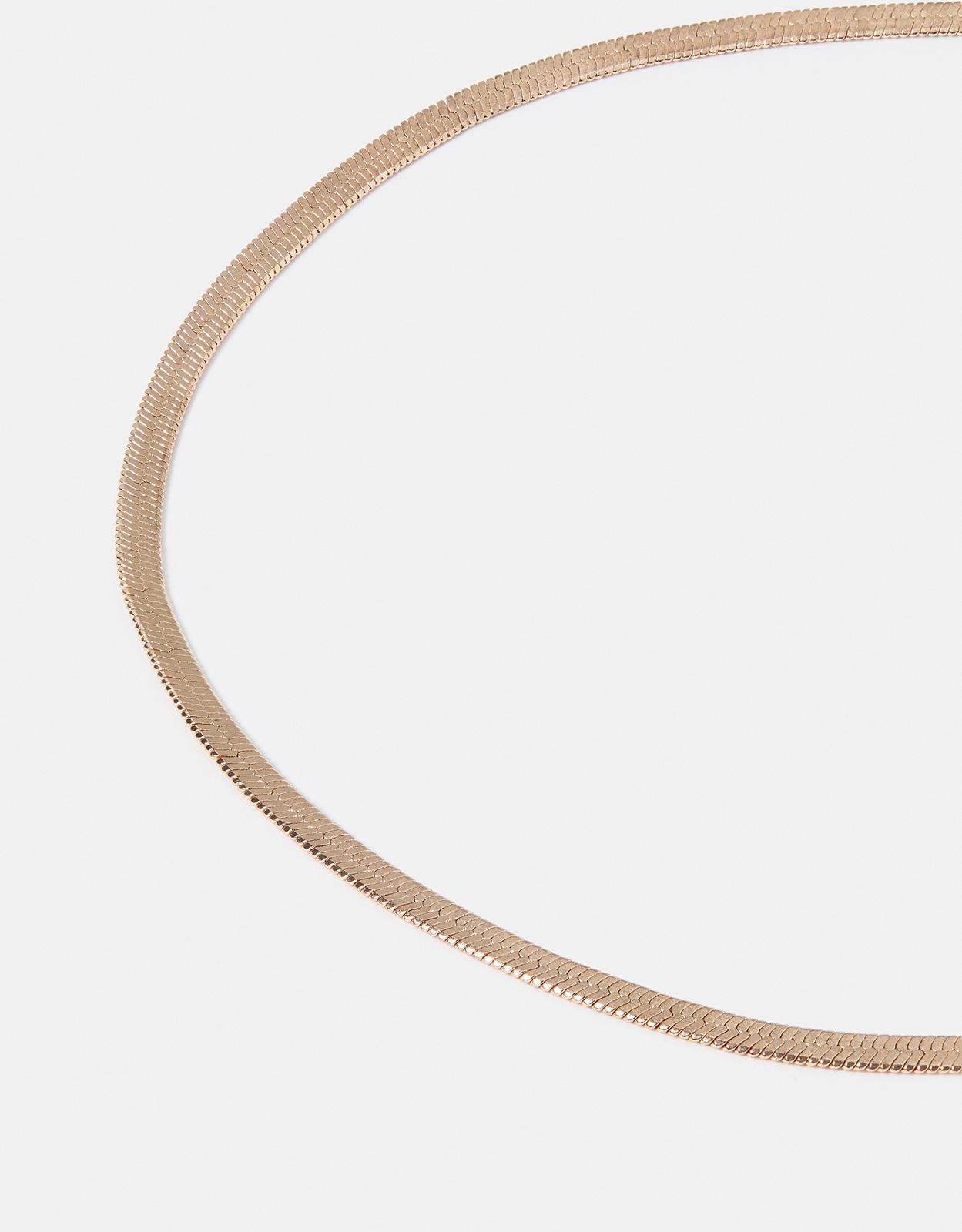 Accessorize Simple Snake Chain Necklace in Rose Gold (Metallic)