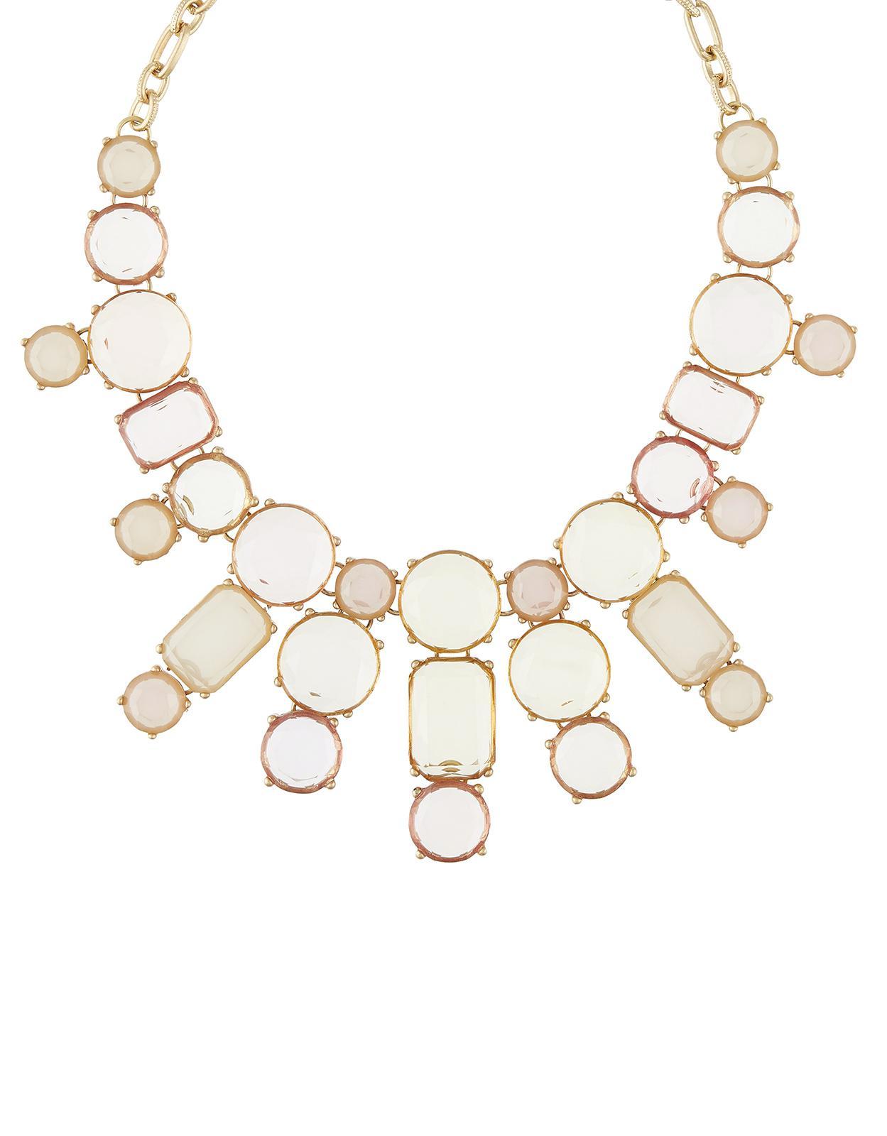 Accessorize Statement Gem Necklace in Pink