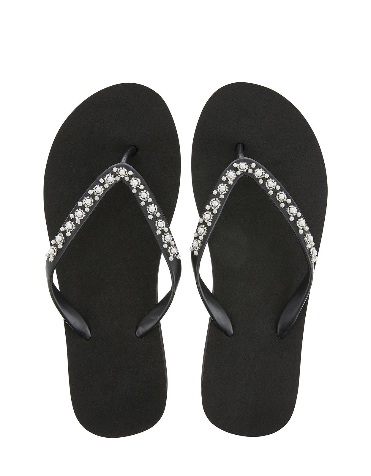 052d18c0d3902 Accessorize Marbella Wedge Eva Flip Flops in Black - Lyst