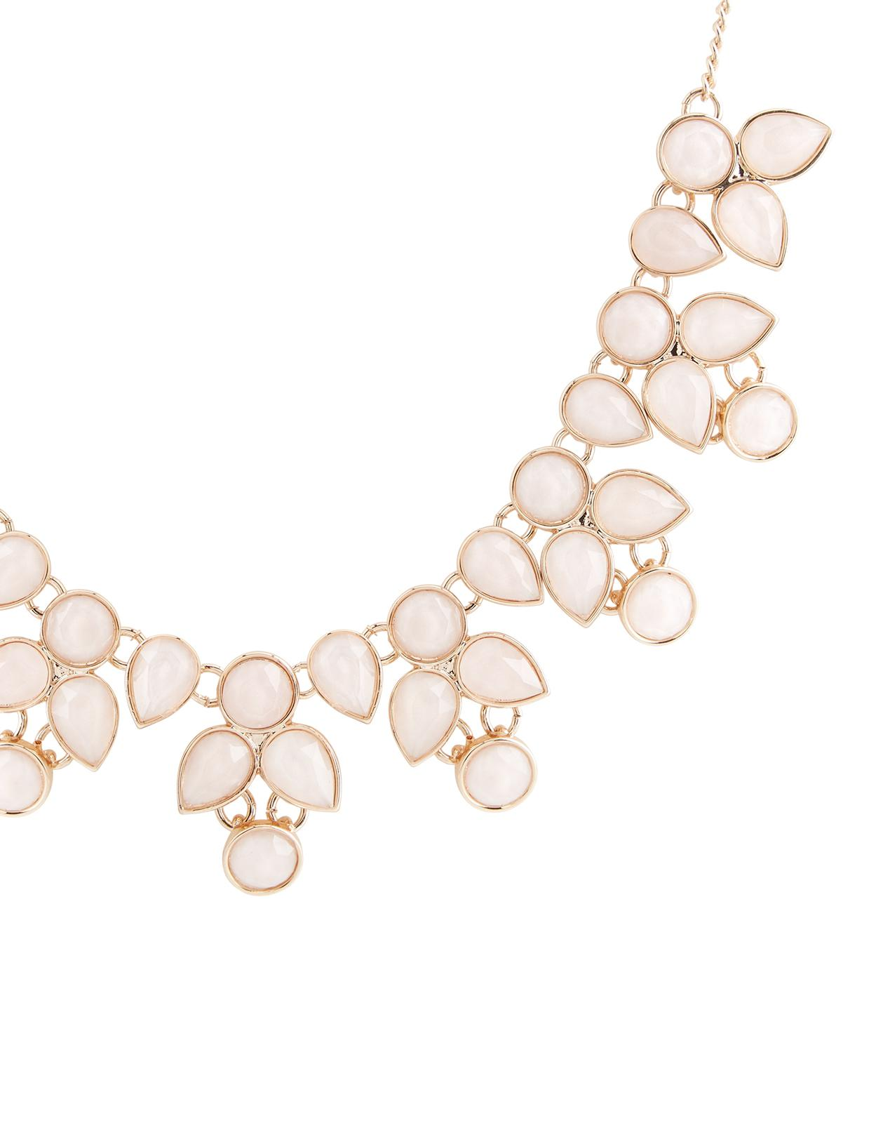 Accessorize Penelope Resin Round Necklace in Pink