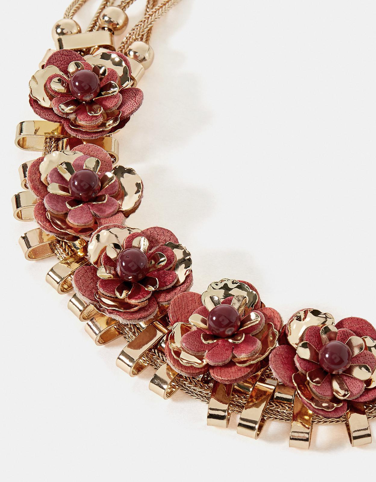 Accessorize Sequin Flower Statement Necklace