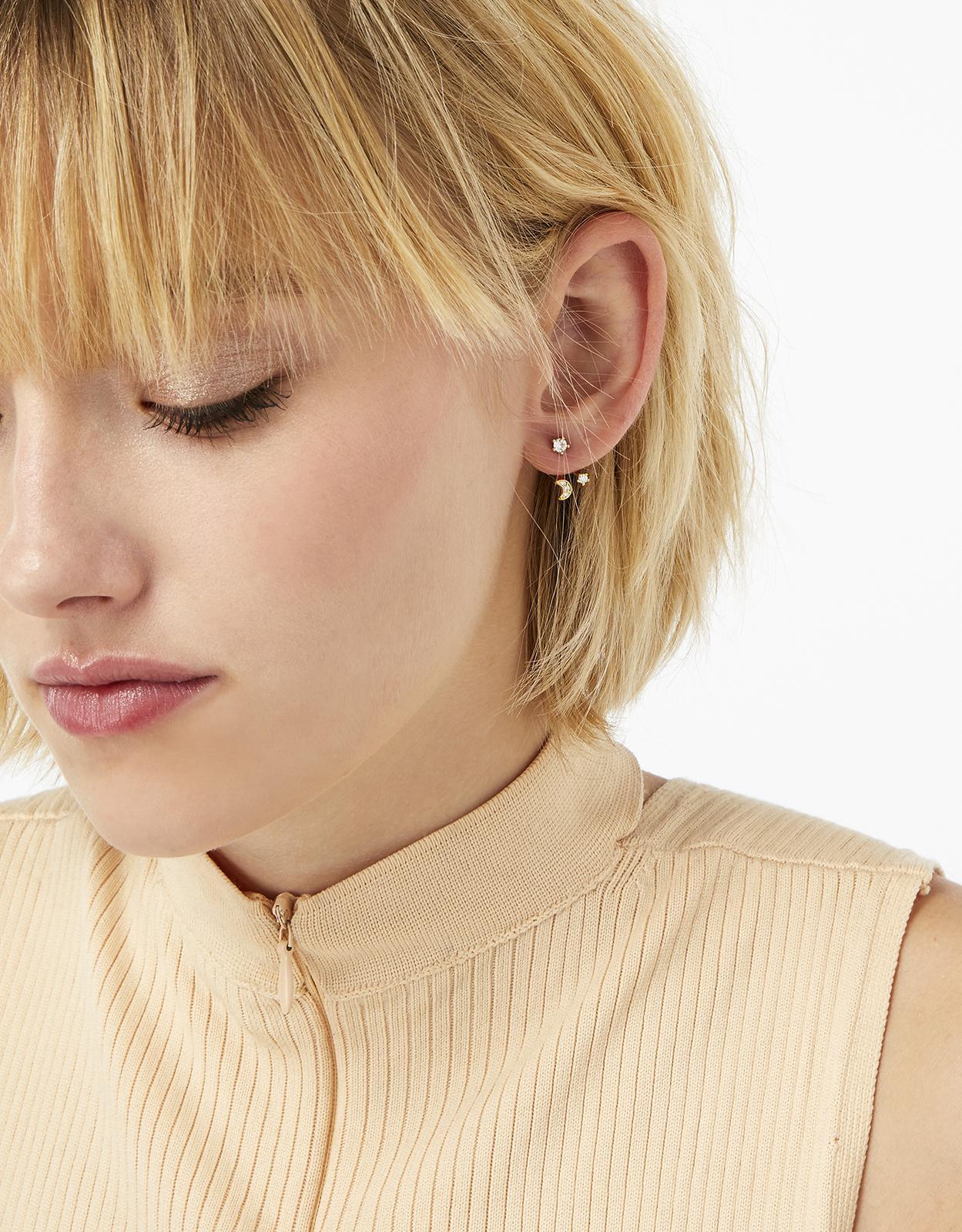 Accessorize Moon & Star Ear Jackets