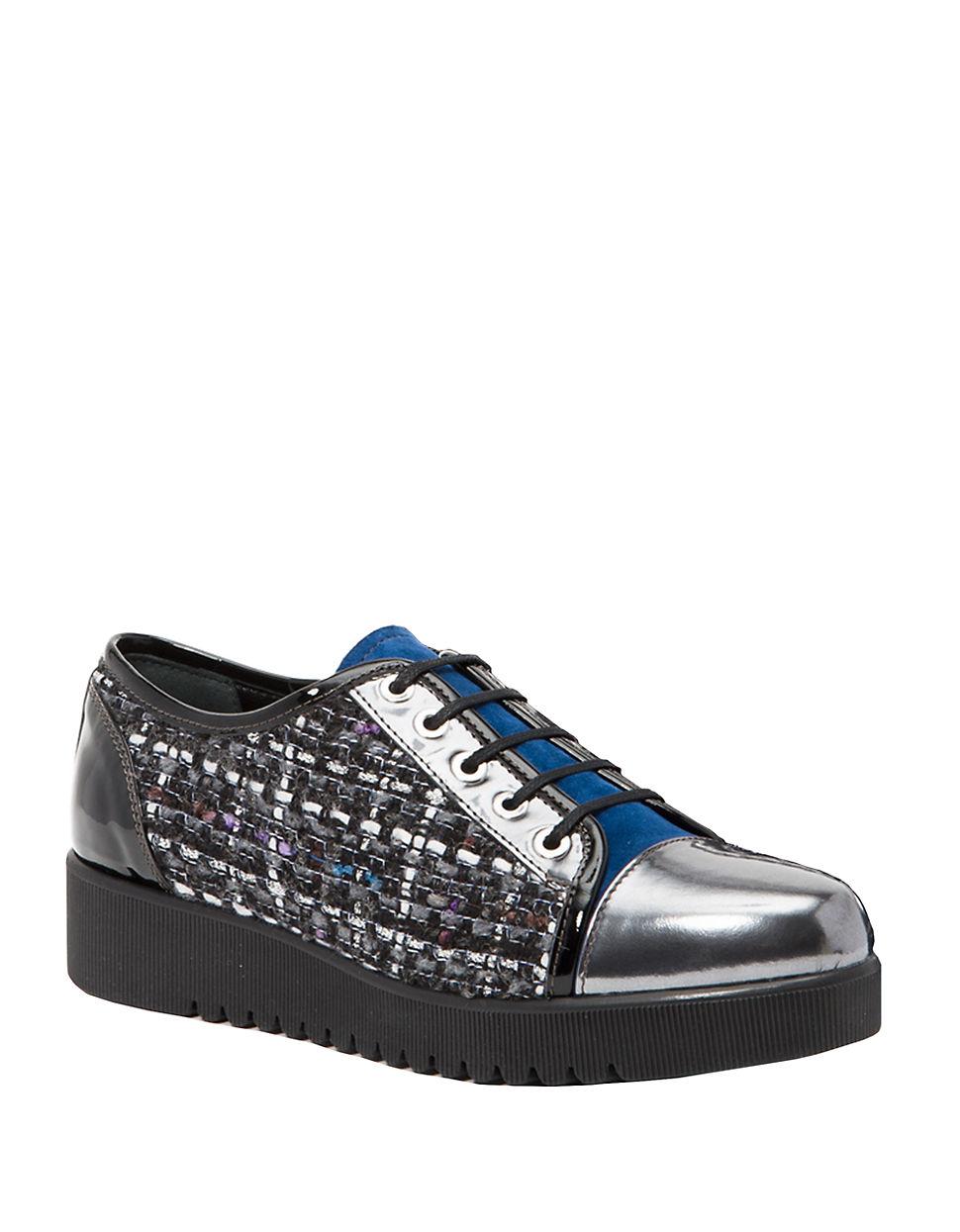 Aquatalia Ada Color-blocked Sneakers in Metallic