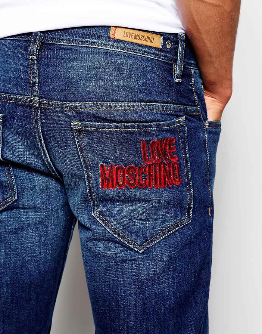 9ff51d3ff2 Love Moschino Jeans In Mid Wash in Blue for Men - Lyst