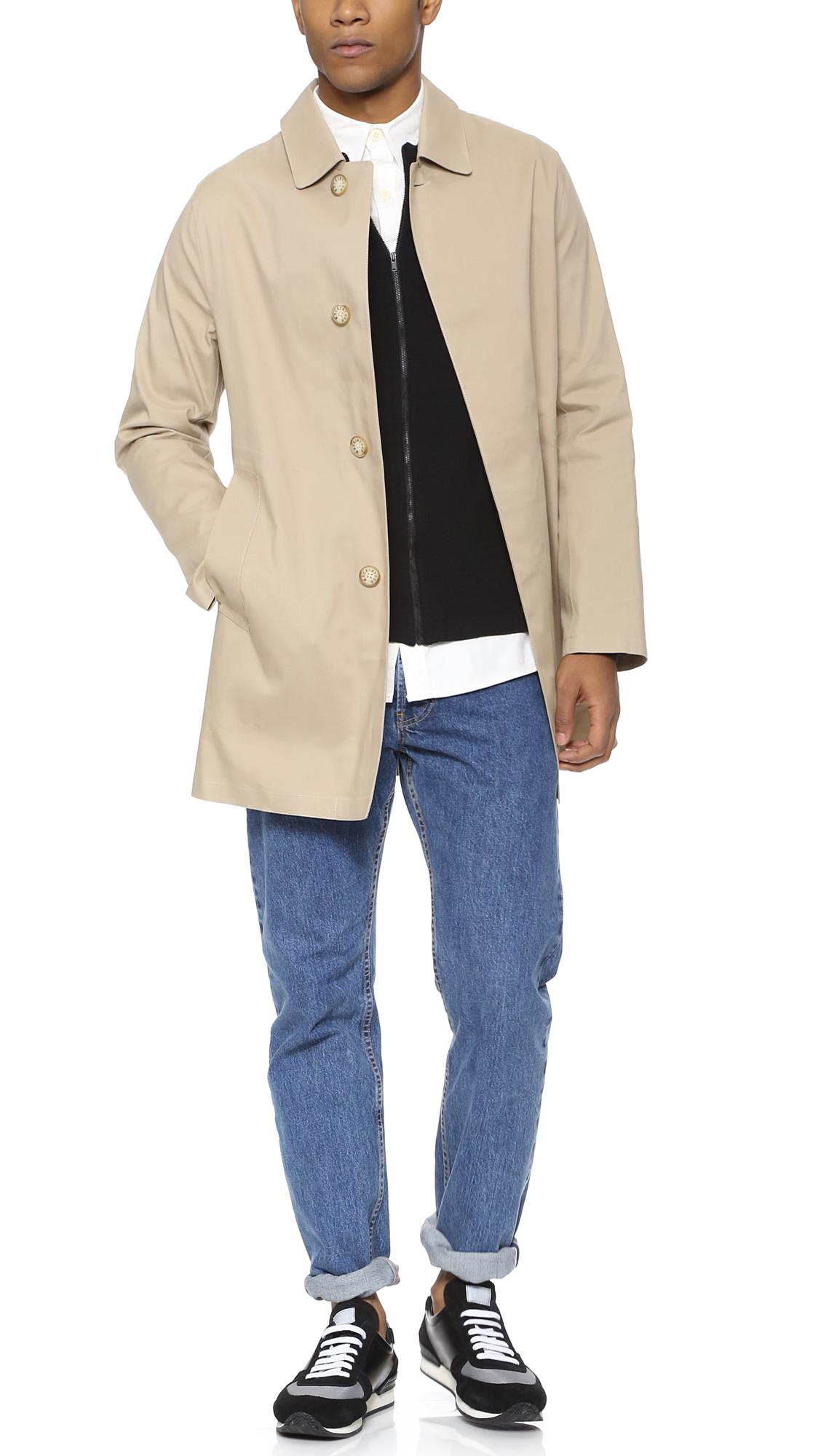2f775794e Mackintosh Natural Dunoon Bonded Raincoat for men