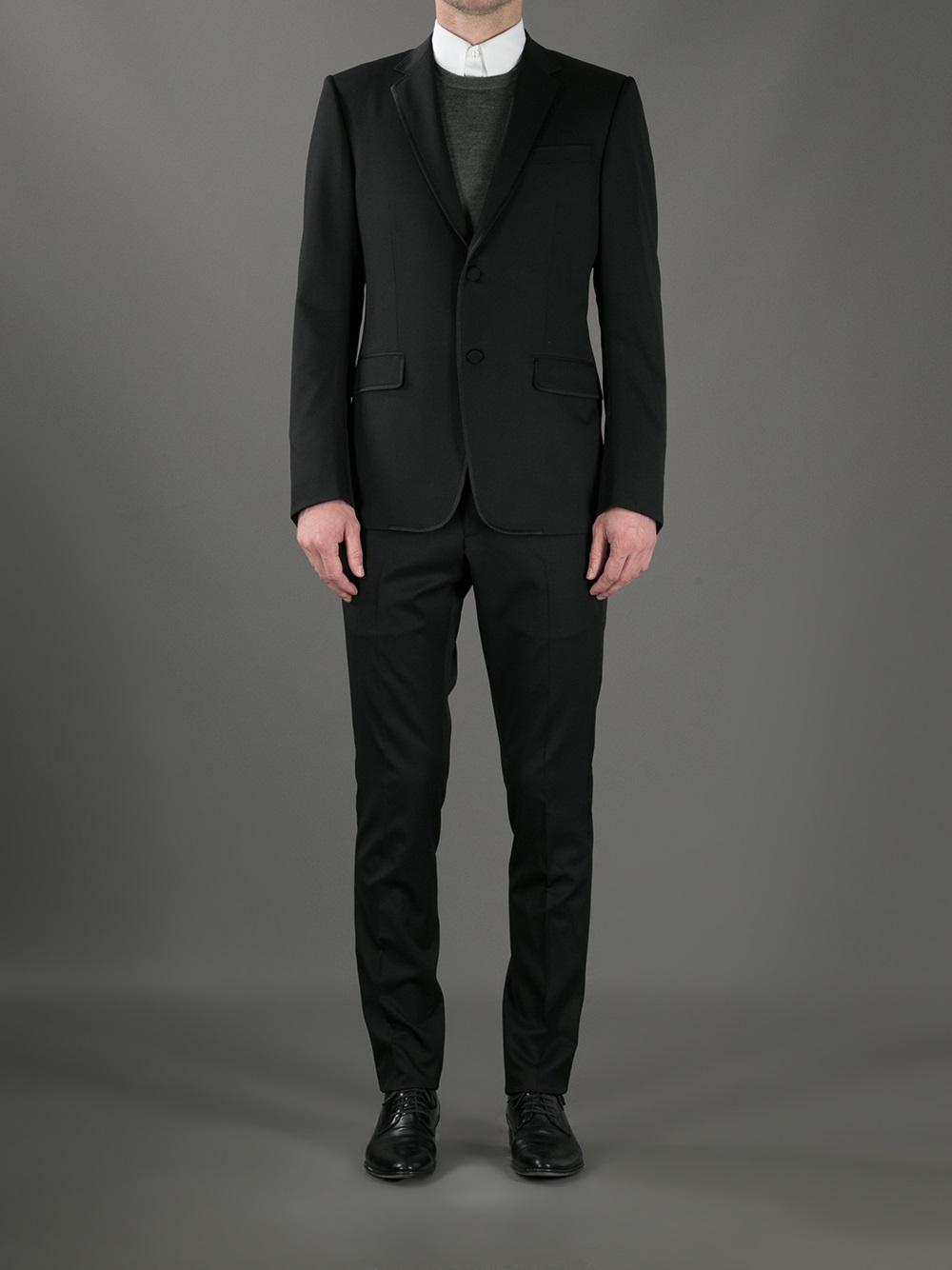 Lyst Gucci Tuxedo Suit In Black For Men