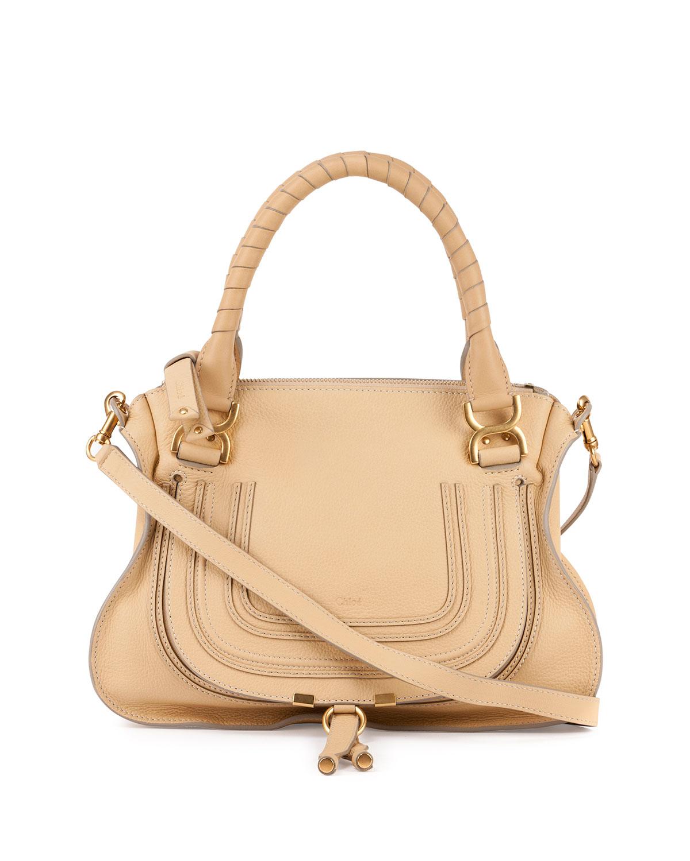 fake chloe purses - Chlo�� Marcie Medium Leather Satchel Bag in Beige (EGGSHELL) | Lyst