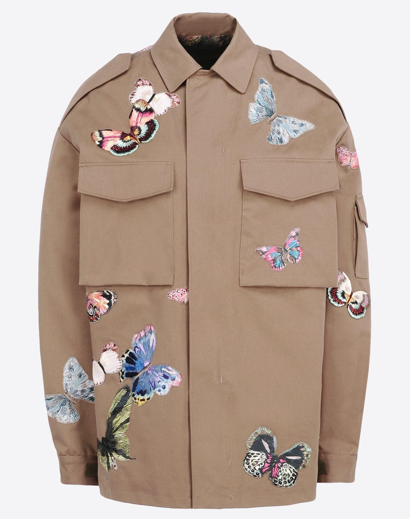 Embroidered khaki jacket makaroka