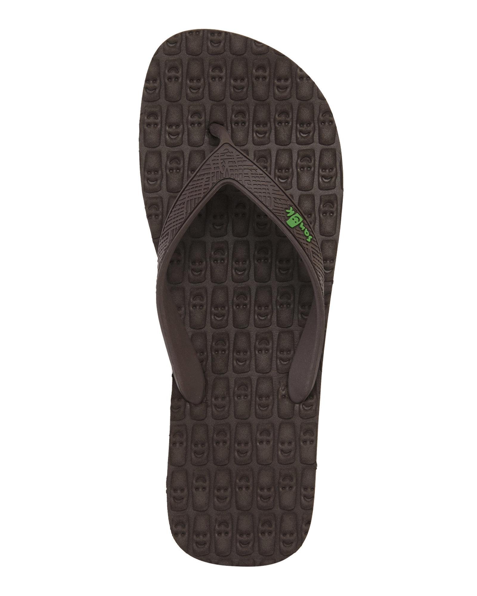 Lyst Sanuk Brown Tiki Flip Flops In Brown For Men