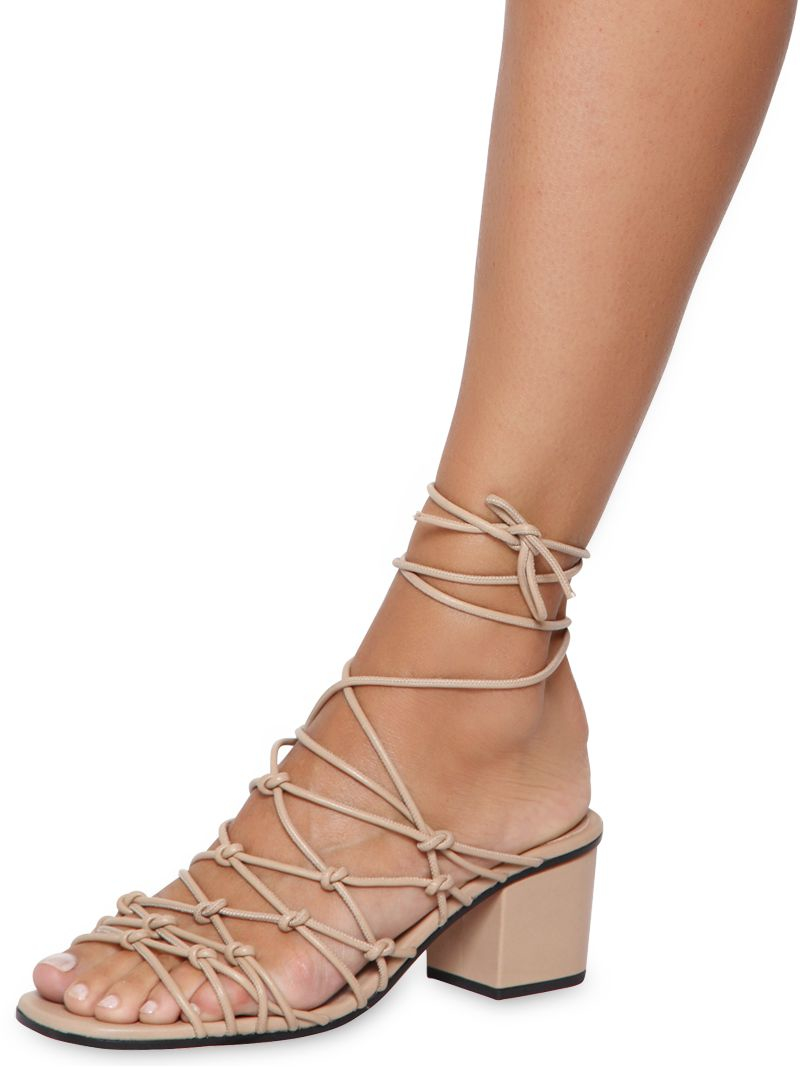 Chloé Leather Lace-Up Sandals fast delivery cheap online cheap real zrjK2j2KT