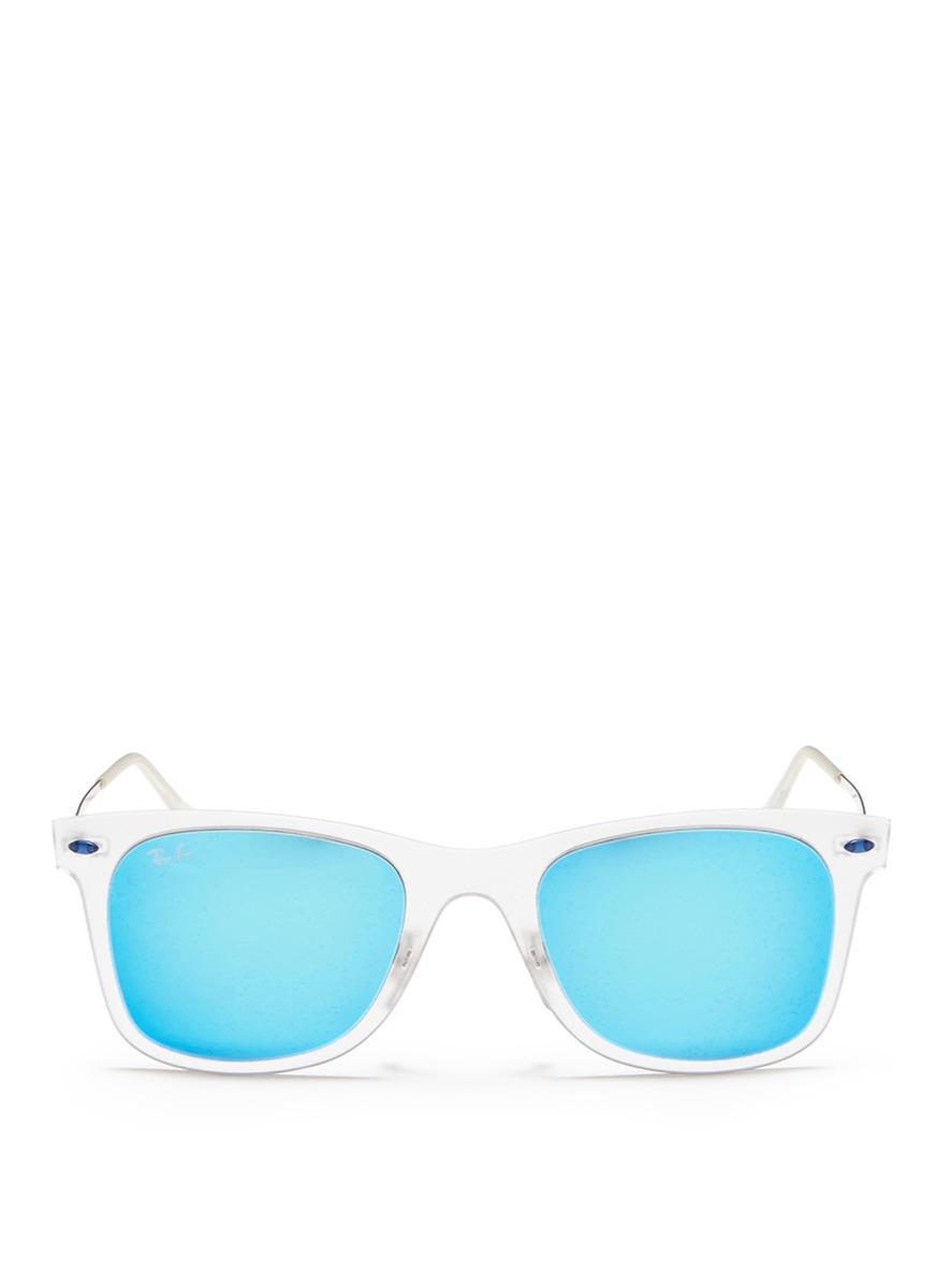 ray ban mirror glasses  Ray-ban \u0027aviator Light Ray Ii\u0027 Nylon Mirror Sunglasses in Blue for ...
