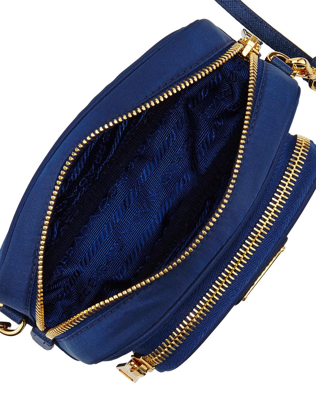 Prada Tessuto Small Pocket Crossbody Bag in Blue (ROYAL BLUE) | Lyst