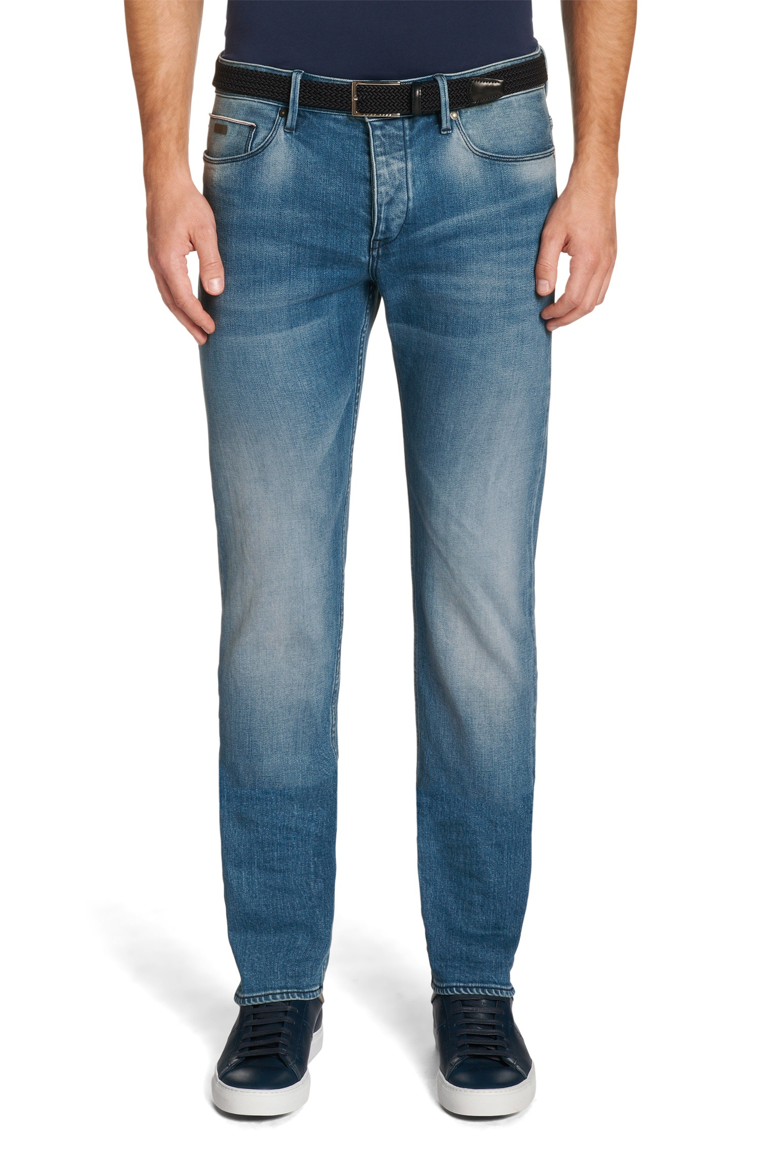 boss slim fit jeans in stretch cotton 39 delaware3 edge 39 in. Black Bedroom Furniture Sets. Home Design Ideas